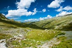 Mooie mening van Fluelapass, Zwitserland Stock Foto's