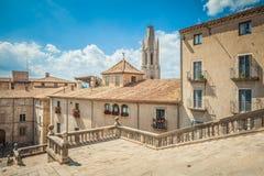 Mooie mening van Girona in de zomer spanje Royalty-vrije Stock Foto