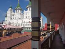 Mooie mening van het Kremlin in Izmailovo, Moskou, Rusland royalty-vrije stock afbeelding