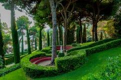 Mooie mening van het park met helder groen Royalty-vrije Stock Afbeelding