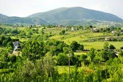 Mooie mening van het Toscaanse platteland Stock Foto