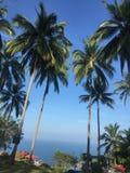 Mooie mening van hierboven in het eiland Thailand van wereldkoh samui Stock Afbeeldingen
