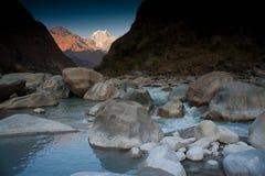 Mooie mening van Himalayan bergen, Nepal Stock Afbeeldingen
