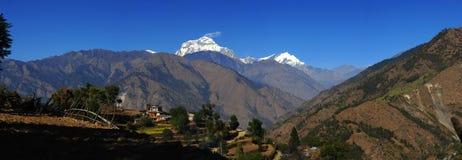 Mooie mening van Himalayan bergen, Nepal Stock Fotografie