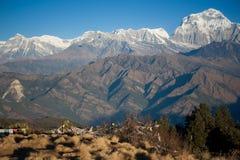 Mooie mening van Himalayan bergen, Nepal Royalty-vrije Stock Foto