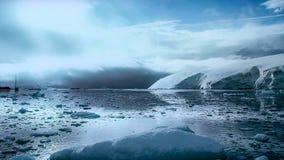 Mooie mening van ijsbergen in Antarctica stock foto