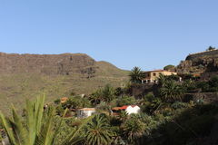 Mooie mening van Masca, vallei van piraten, Tenerife, Spanje Royalty-vrije Stock Foto's
