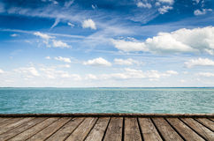 Mooie mening van Meer Balaton Royalty-vrije Stock Fotografie