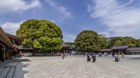 Mooie mening van Meiji Shinto Shrine in centraal Tokyo, Japan royalty-vrije stock afbeelding