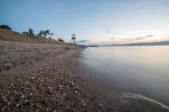 Mooie mening van Olkhon-eiland Stock Fotografie
