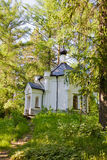 Mooie mening van Orthodox klooster op eiland Valaam Stock Foto's