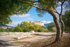 Mooie mening van oude Akropolis Stock Afbeelding