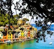 Mooie mening van Portofino stock afbeelding
