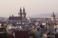 mooie mening van Praag in Tsjechische Republiek Royalty-vrije Stock Afbeelding