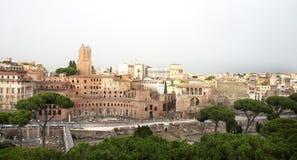 Mooie mening van Roman Empire-ruïnes, Rome Stock Afbeelding