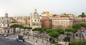 Mooie mening van Roman Empire-ruïnes, Rome Stock Foto