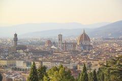 Mooie mening van Santa Maria del Fiore en Giotto ` s Belltower in Florence, Italië royalty-vrije stock fotografie