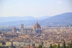 Mooie mening van Santa Maria del Fiore en Giotto ` s Belltower in Florence, Italië stock afbeeldingen