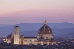 Mooie mening van Santa Maria del Fiore en Giotto ` s Belltower in Florence, Italië stock foto's