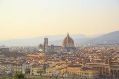 Mooie mening van Santa Maria del Fiore en Giotto ` s Belltower in Florence, Italië stock fotografie