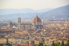 Mooie mening van Santa Maria del Fiore en Giotto ` s Belltower in Florence, Italië stock foto