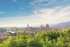 Mooie mening van Santa Maria del Fiore en Giotto ` s Belltower in Florence, Italië royalty-vrije stock afbeeldingen
