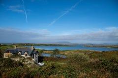 Mooie mening van Sherkin-Eiland in Ierland Royalty-vrije Stock Foto's