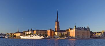 Mooie mening van Stockholm stock fotografie