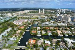 Mooie mening van Sunny Isles, Florida Royalty-vrije Stock Foto's