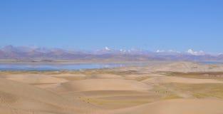 Mooie mening van Tibetaans landschap stock foto