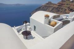 Mooie meningen van Santorini Griekenland stock foto
