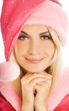 Mooie Mevr. Kerstman Royalty-vrije Stock Afbeeldingen