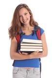 Mooie middelbare schooltiener in onderwijs Royalty-vrije Stock Afbeeldingen