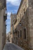 Mooie middeleeuwse stad van Caceres in Extremadura Stock Fotografie