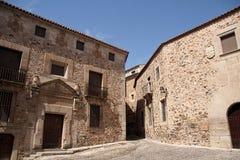 Mooie middeleeuwse stad van Caceres in Extremadura Royalty-vrije Stock Fotografie