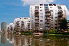 Mooie Moderne Architectuur WoonFlatgebouwen stock foto's