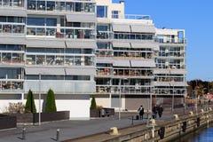 Mooie moderne flats in Zweden Stock Foto's