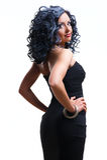 Mooie modieuze vrouw Stock Foto's