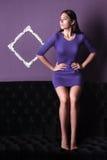 Mooie Modieuze Vrouw Royalty-vrije Stock Fotografie