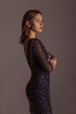 Mooie Modieuze Vrouw Royalty-vrije Stock Afbeeldingen