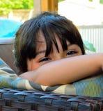 Mooie mooie ogen - magisch haar Stock Afbeelding