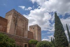 Mooie Moorse vesting van Alhambra in Granada, Andalusia Stock Afbeelding