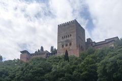 Mooie Moorse vesting van Alhambra in Granada, Andalusia Stock Foto
