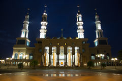 Mooie moskee in Borneo Indonesië Stock Afbeelding