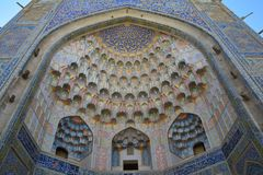 Mooie Moskee in Boukhara Oezbekistan Centraal-Azië stock foto