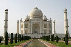 Mooie moskee Taj Mahal. Agra, India royalty-vrije stock afbeelding