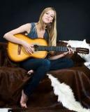 Mooie musican Royalty-vrije Stock Foto's