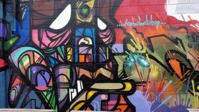 Mooie muurschildering, graffiti Stock Foto's