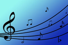 Mooie muzikale achtergrond Royalty-vrije Stock Fotografie