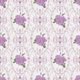 Mooie naadloos nam patroon met barok ornament als achtergrond toe Stock Fotografie